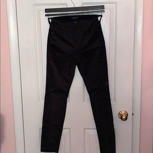 """NWOT J. Crew Black Velvet 9"""" Toothpick Jeans"""
